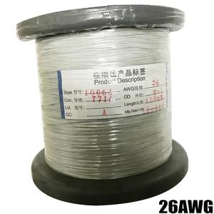 Image 2 - 50m26AWG 30AWG 32AWG 34AWG Teflo マイクロリッツ線はんだ電子ワイヤー高温抵抗線カベル