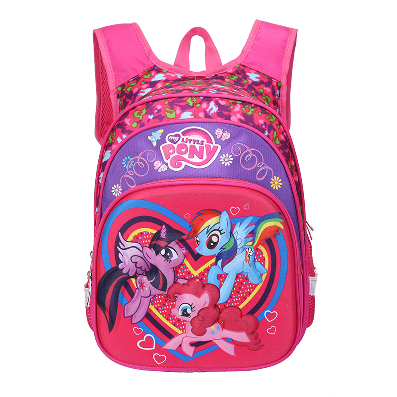 2019 New My Little Pony Backpack  Primary School Bag 1-5 Grade 3D Burden Shoulder Pad Multi-layer Russian Space Children's Bag