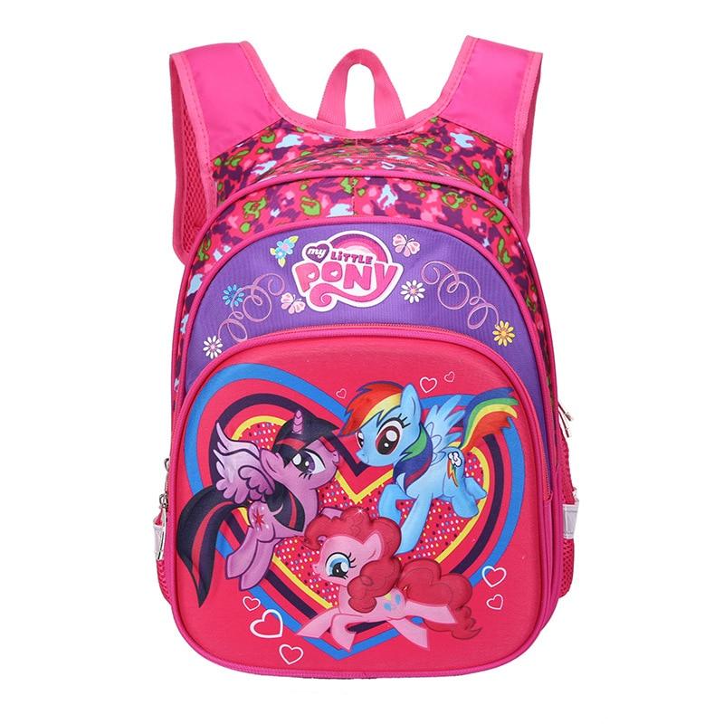 2019 New My Little Pony Backpack  Primary School Bag 1-5 Grade 3D Burden Shoulder Pad Multi-layer Russian Space Children's Bag