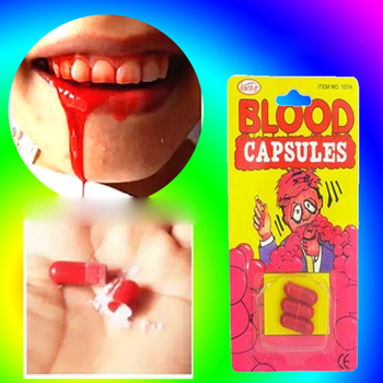 12pcs April Fool's Day Doys Artificial Prank Joking Blood Plasma Capsule Film Prop Edible Item Vampire Cosplay Party Drama Tools image