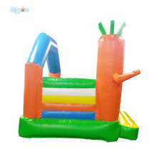 Inflatable Biggors Carrot Inflatable Bouners Commerial Grade PVC Bounce House