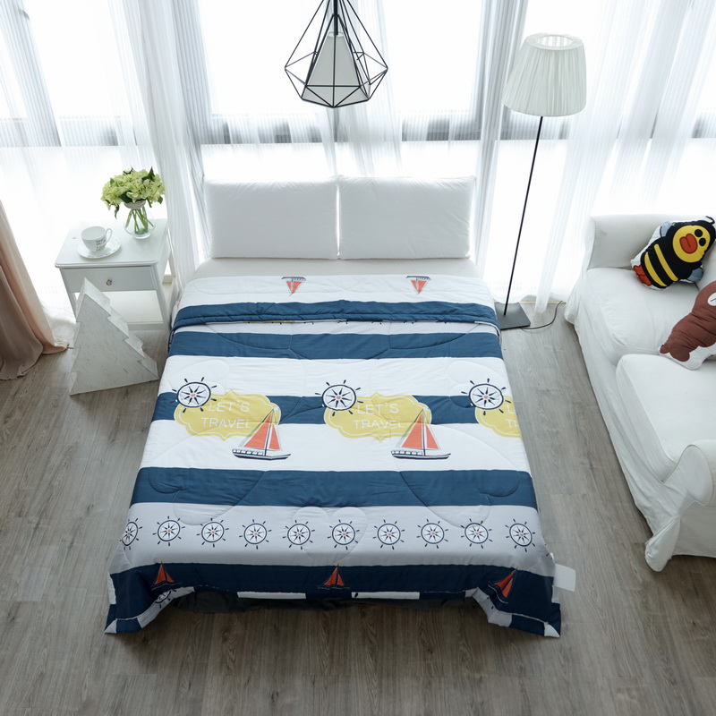 Online Get Cheap Bedroom Quilts Comforters  Aliexpress com   Cool personality of the sailing pattern Cotton Summer Quilt Air  conditioning Blanket Bedspread Comforter Bedroom Quilting. Bedroom Quilts. Home Design Ideas