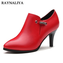 New 2018 Party Fashion Simple Shoes Women Pointed Toe High Heels Sheepskin Leather Pumps Single Shoes Spring Autumn YG-A0060 2018 new autumn women genuine leather shoes pointed toe dress pumps buckle strap sheepskin high heeled shoes fashion rubber sole