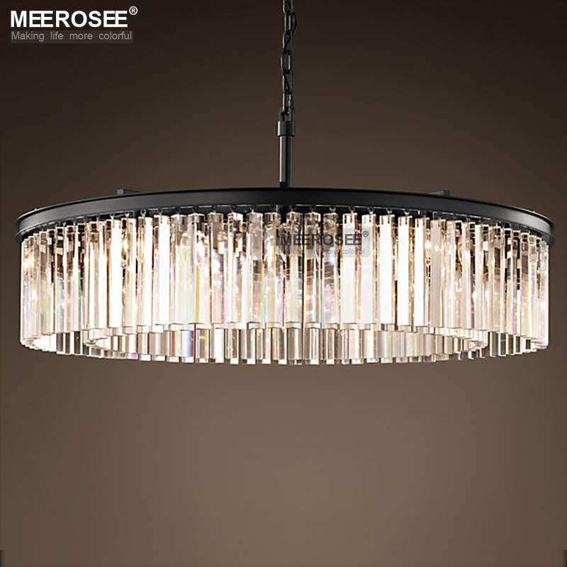 Luxurious Crystal Hanging Light Fixture Round Crystal Chandelier Luminaire Drop Lamp for Living room Dining room
