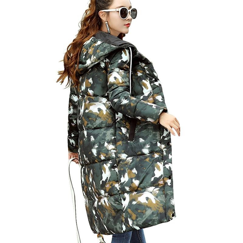 Plus Size 3XL Winter Jacket Women Hood Camouflage Military Jackets Thick Parka Jaqueta Feminina Inverno Cotton Coat Women C3663