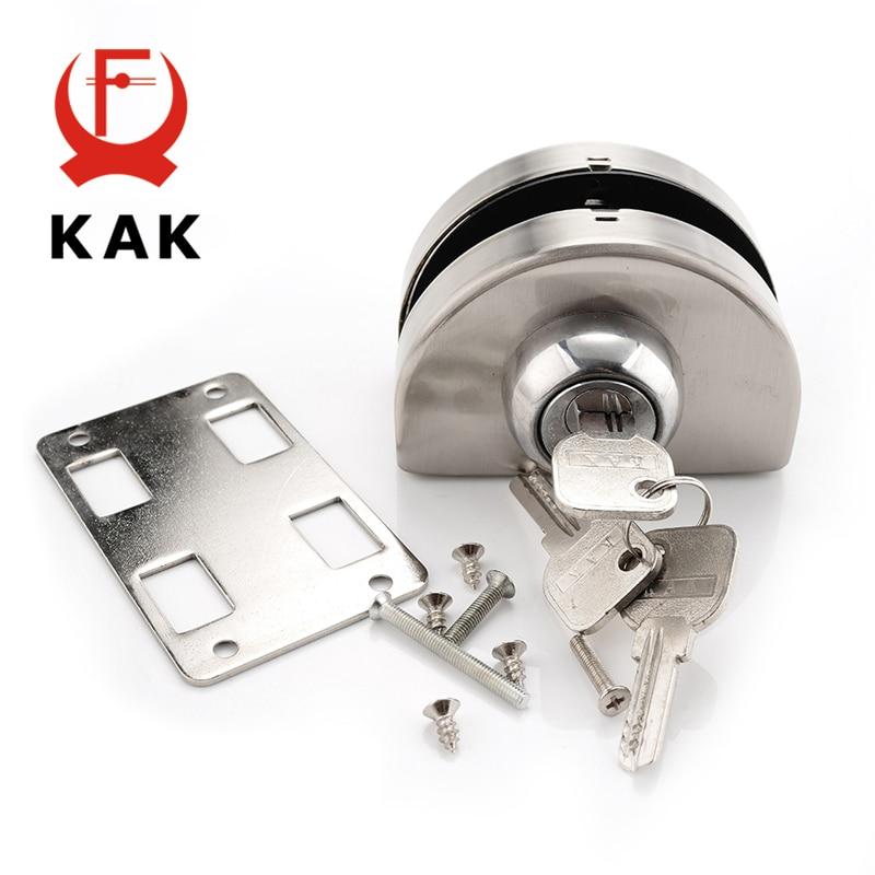 KAK Single Glass Door Lock 304 Stainless Steel Double Open Frameless Door Hasps For 10-12mm Thickness Furniture Hardware цена в Москве и Питере