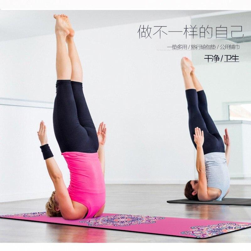 Tapis de Yoga Super portable anti-dérapant entraînement absorber la sueur serviette ménage tapis extérieur