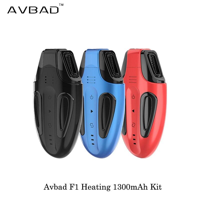 Cigarette électronique Avbad F1 chauffage 1300 mAh Kit dispositif de démarrage Kit contrôle de température Vape vaporisateur VS JUSTFOG MINIFIT C601