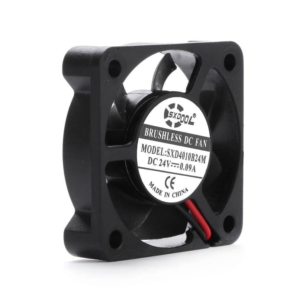 4010 24v Sxdool SXD4010B24M = AD0424UB-G70 DC 24V 0.09a 010 40*40*10mm 2 Wires 6800RPM Double Ball Bearing Cooling Fan