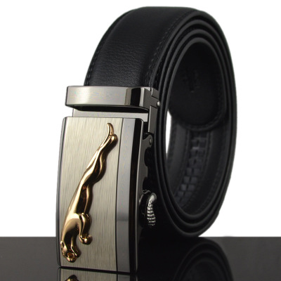 Top quality Men's   Belt   Genuine Leather Business Strap Male   Belts   For Men Fashion Vintage Automatic Buckle For Jeans