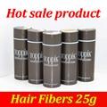25g Toppik Hair Building Fibers y Soluciones de Adelgazamiento Del Cabello Negro Hombres Mujeres Natural Queratina Pelo Lleno Al Instante