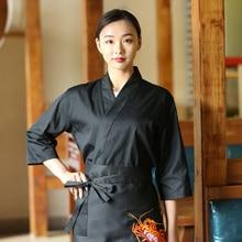 Restaurant Uniform Chef Shirt Overalls Cook-Costume Hotel Waiter Japanese New Unisex