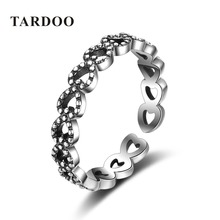 Tardoo Classics Romantic 925 Sterling Silver Love Heart Rings for Women Valentine day Gifts Brand Fine Jewelry