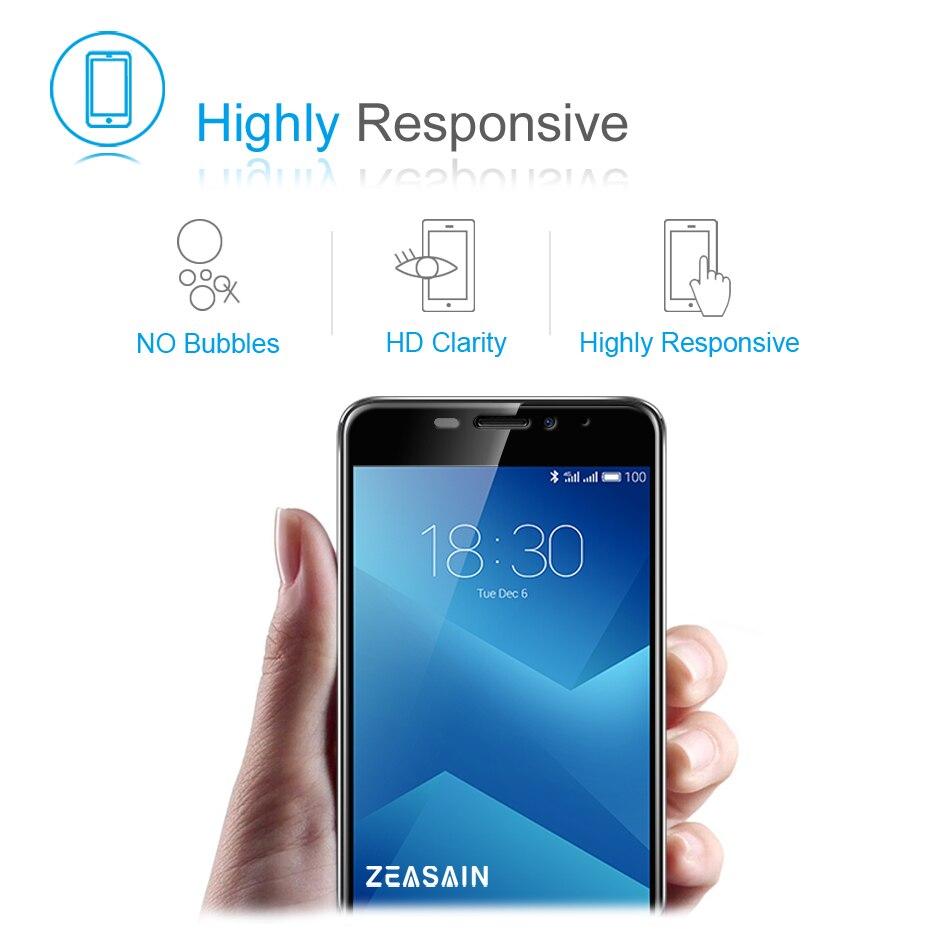 Original ZEASAIN Hel täckt härdat glas för Meizu M5 Note Meilan - Reservdelar och tillbehör för mobiltelefoner - Foto 4