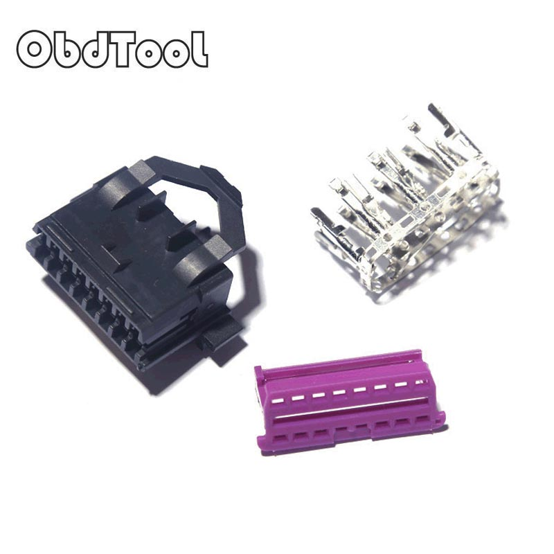Universal OBDII OBD2 16Pin Female Male Connector for VAG Car Scanner OBD Plug Adapter OBD 2 Connector More Type Option LR10 цены онлайн