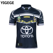 YIGEGE 2018 National Rugby League NRL Queensland Cowboys rugby Jerseys  Camisa casa Camisa nrl Austrália camisa d1e03f95bd892