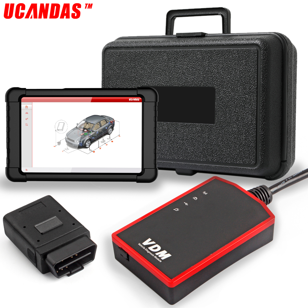 UCANDAS VDM Wifi Scanner OBD2 Full System Diagnostic Tool Auto Car TPS Oil Service Reset with