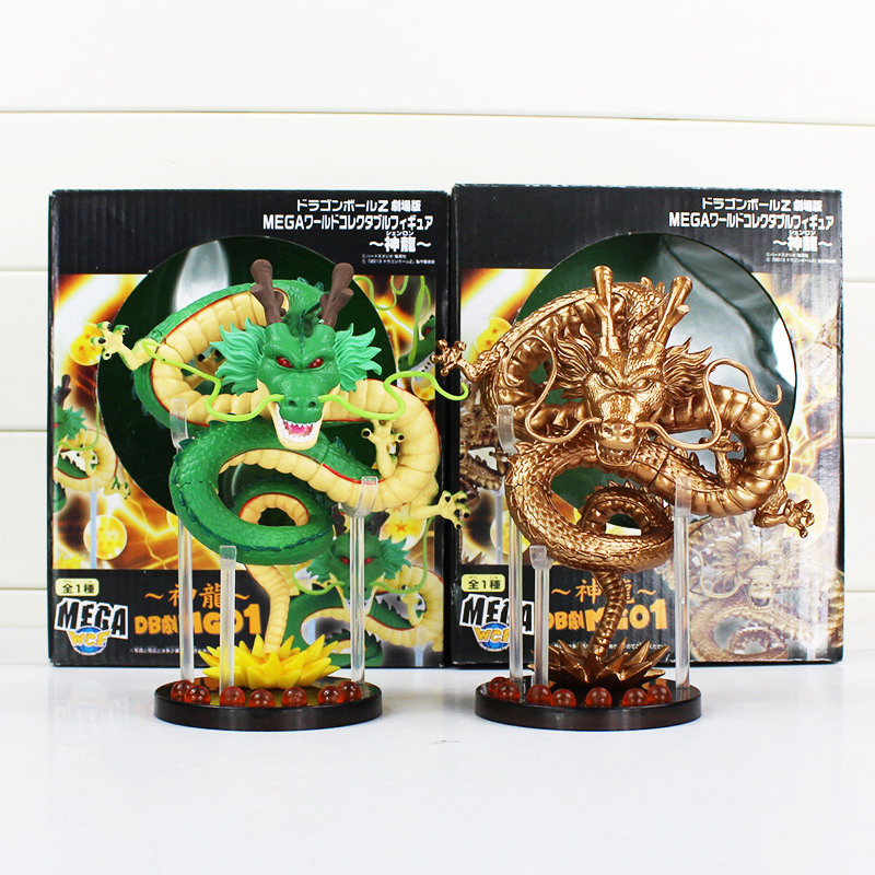 2 styles 15cm Anime Dragon Ball Z ShenRon ShenLong PVC Action Figure Collection Model Toy selectable j g chen anime cartoon dragon ball z shenron shenlong gold pvc action figure collectible model toy free shipping