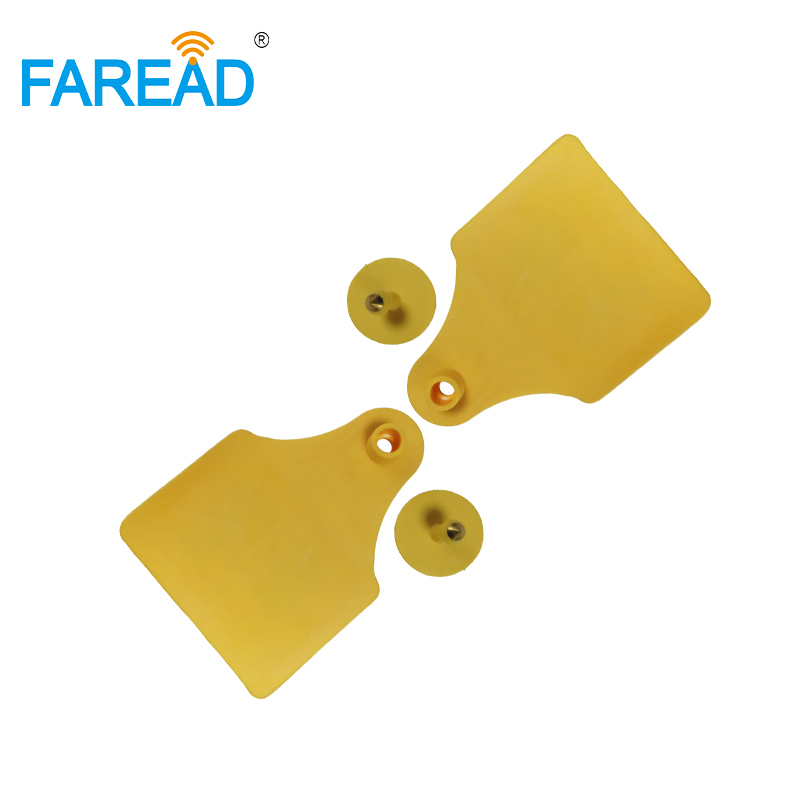 X60PCS Best Quality Factory UHF RFID Visual ID Tag Electronic Animal Ear Tag  ISO18000-6C For Sheep Cattle Identification
