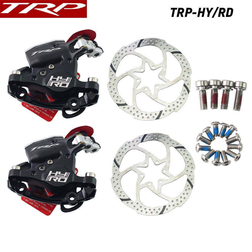TRP HYRD ROAD Hydraulic Disc Brake MTB Caliper HY/RD Post Mount Cable Actuated Caliper 160mm w/ or w/o Rotor Front / Rear / SetTRP HYRD ROAD Hydraulic Disc Brake MTB Caliper HY/RD Post Mount Cable Actuated Caliper 160mm w/ or w/o Rotor Front / Rear / Set