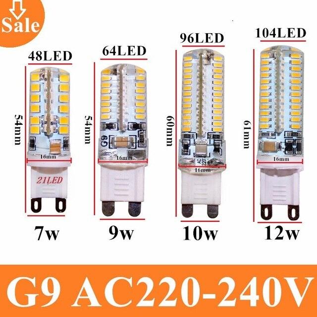 G9 led bulb AC220V 3014 7w 9w 10w 12w 2835LED Crystal Silicone ...