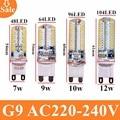 Nuevo G9 bombilla led AC220V 3014 7 W 9 W 10 W 12 W LED de cristal silicona vela reemplace 20 -35 W lámparas halógenas de Navidad dormitorio led Luz