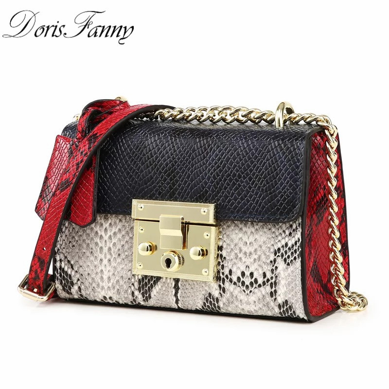 DorisFanny Fashion Designer high quality snake women leather handbags small Clutch shoulder bags 2016 new cassette to usb flash disk converter convert old cassette to u driver no need computer walkman free shipping
