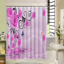 NANAZ Brand Pink Rose Shower Curtain Bathroom Shower Curtain Accessories  MG039(China)