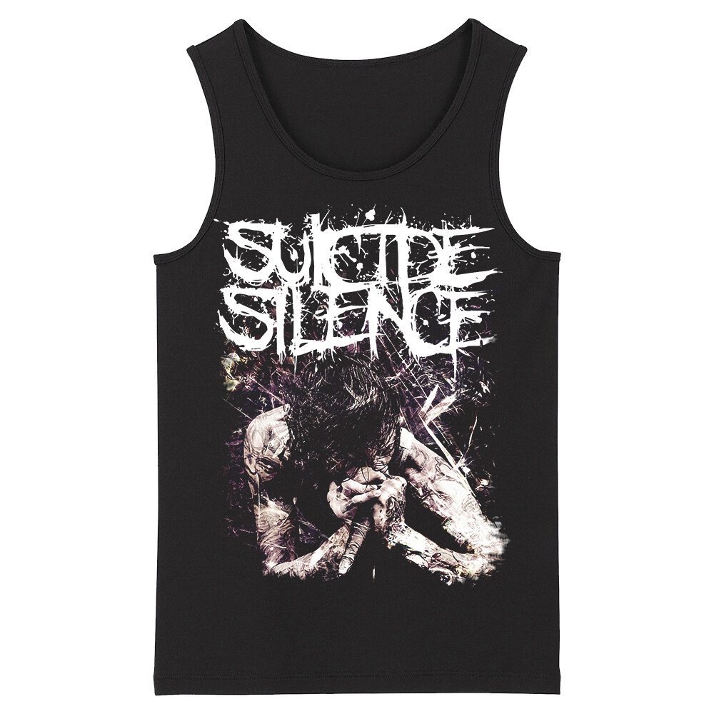 Bloodhoof Suicide Silence Rap Metal Alternative Metal Heavy Metal Deathcore Men's   Top     Tank     Tops   Asian Size