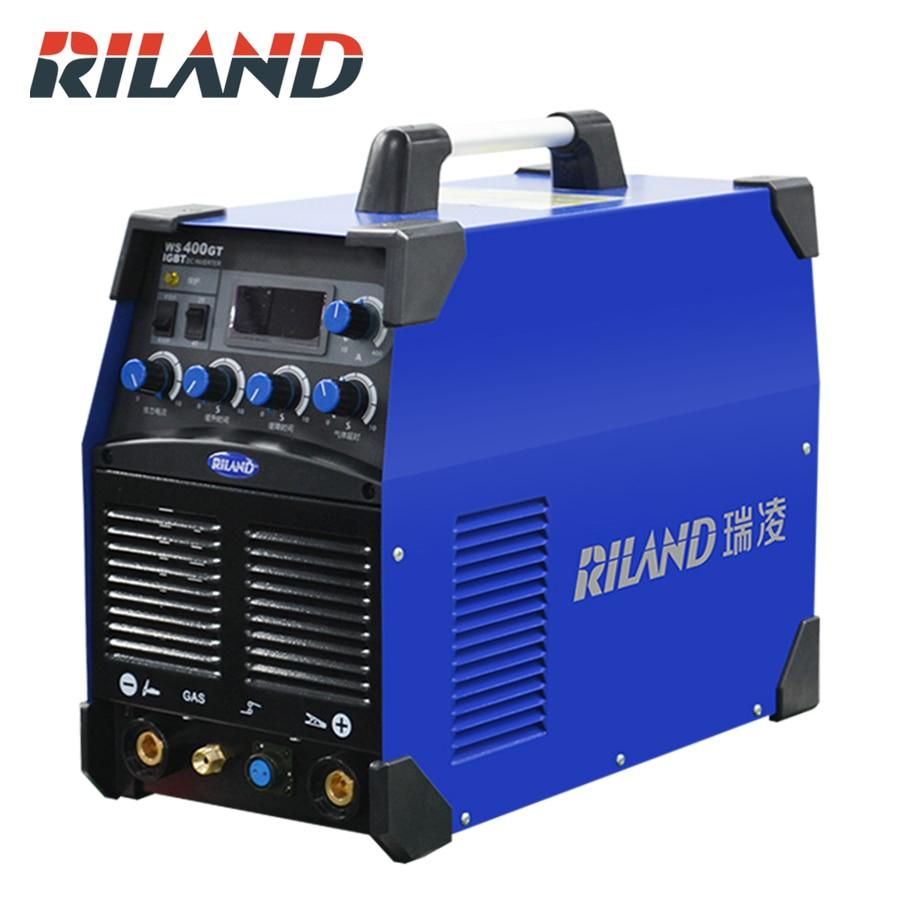RILAND 380V Three Phase WS 400GT AC DC Welder Inverter TIG Welding Inverter Welding Machine IGBT DC Argon Arc Welding