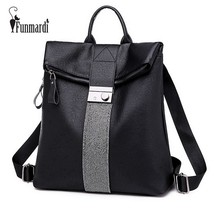 FUNMARDI Fashion Diamonds PU Leather Backpack Female Casual School Bag For Girl Lock Design Shoulder Bag Women Backpack WLHB3007(China)