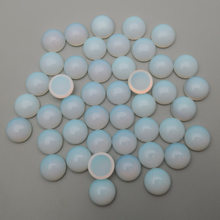 charm opal natural stone beads round cabochon for Jewelry making 4 6 8 10 12mm 36pcs/lot good quality Ring Earrings Accessories(China)