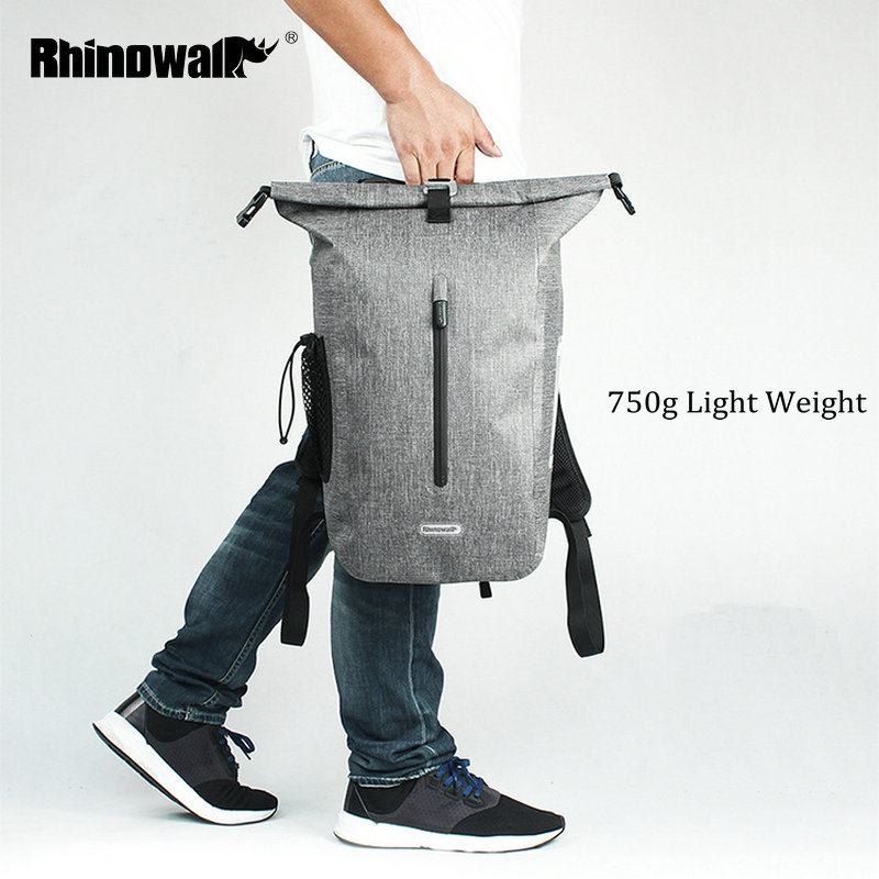 RHINOWALK 25L Full Waterproof Backpack TPU Outdoor Long Distance Cycling Backpack for Men Travel Mountain Bike Riding Rucksack-in Bicycle Bags & Panniers from Sports & Entertainment