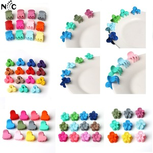 10 pcs Small Hair Claw Cute Candy Color Flower Mini Hair Jaw Clip For Girls Children Hairpin Baby Hair Accessories Random Color