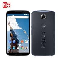 נעול מוטורולה Google Nexus 6 XT1103 XT1100 Quad Core 3 GB RAM 32 GB ROM 4 גרם LTE 13MP 3220 mAh טלפון סלולרי 5.96 inch משופץ