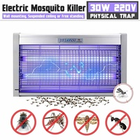 220V Mosquito Killer 40/30/20W Lamp Outdoor Indoor LED Electric Shock Anti Killer Pest Fly Bug Zapper Catcher Insect Traps