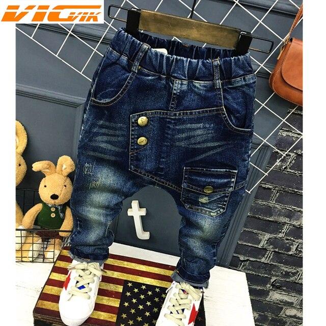 9936025fe 2019 Boys Pants Jeans Letter Spring Fall Children's Denim Trousers Fashion Boys  Jeans Kids Clothes Haren