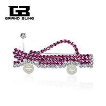 цена на Hand-made Brooch Jewelry Rhinestone Pink Car Brooch Pins  for Mary Kay Ladies