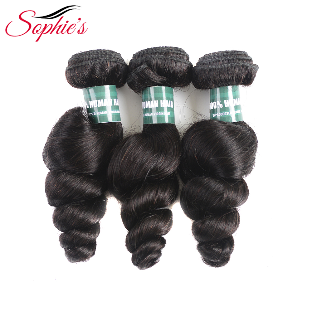 Sophie s Brazilian Remy Hair Loose Wave 100 Human Hair Weave Bundles 3 Pieces Human Hair