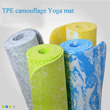 2016 camouflage TPE 6 mm Non-Slip Yoga Mat Exercise Fitness Mat light Weight Eco-friendly 185*62*0.6 cm Body Building 4colors