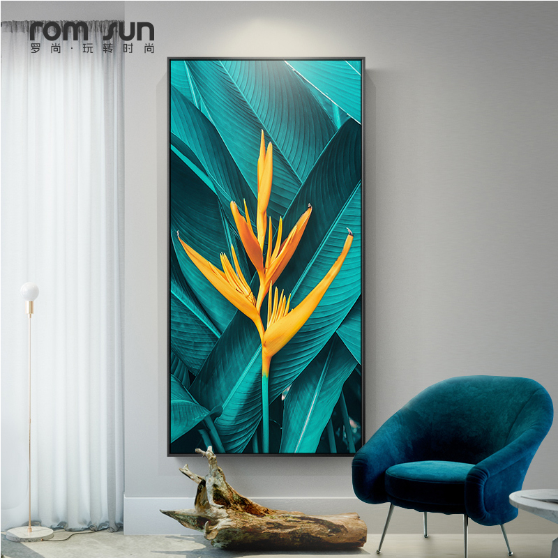 Nordic Green Leaf Yellow Flower Canvas Painting Plants Wall Art Pictures For Living Room Home Decor Modern Posters And Prints