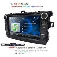 Multimedia Car DVD Player for COROLLA 2006 2007 2008 2009 2010 2011 car with GPS auto Radio Audio SD USB host BT TV FM IDAB+ Map