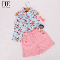 Kids Clothing 2015 Summer Style New Clothing Baby Girl S Clothing Sets Fashion Children Sleeveless Floral