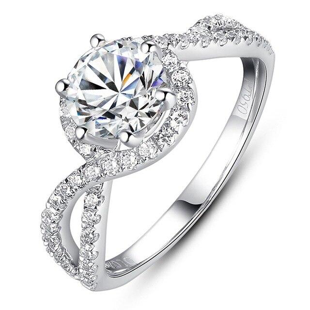 Aliexpresscom Buy Luxury Engagement Ring 1 Carat Simulated