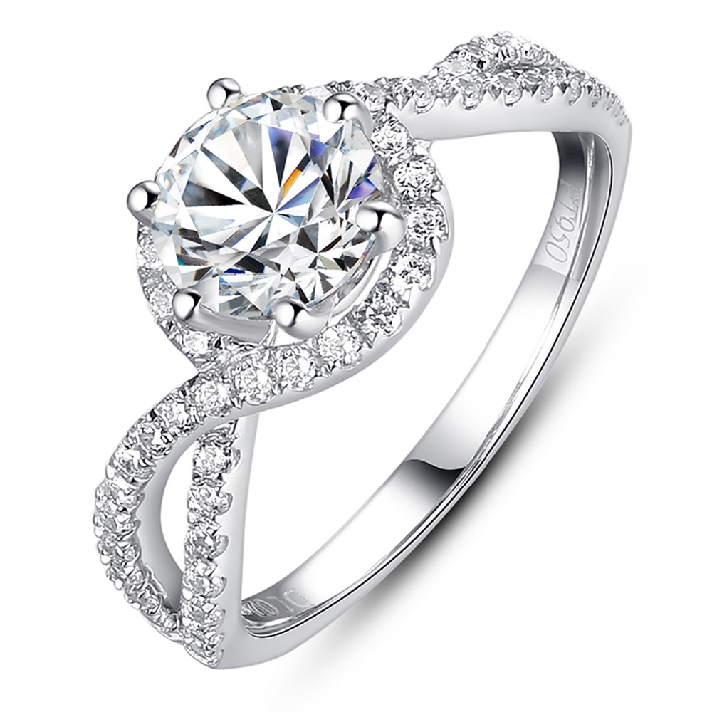 Luxury Engagement Ring 1 Carat Simulated Diamond Ring As Brilliant As Real  Diamond 925 Silver Gold