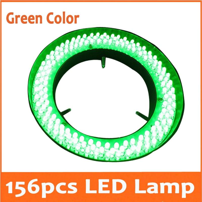 все цены на Green Color Light - 156pcs Adjuatable Medical Stereo Microscope Illuminated LED Ring Bulb Lamp 110V-220V Inner Diameter 81mm онлайн