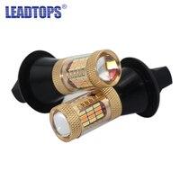 2 יחידות הפעל אותות אור 54 SMDS T20 מתח גבוה 1156 12 V 30 W שבב מנורת רכב אורות בלם איתות כפול צבע LED DRL הקדמי להיות