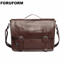 Hot selling Men bag Crazy horse PU Leather bags men Messenger Bags crossbody Shoulder mens travel bag briefcase LI 815