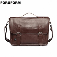 Hot selling Men bag Crazy horse PU Leather bags men Messenger Bags crossbody Shoulder men's travel bag briefcase LI 815