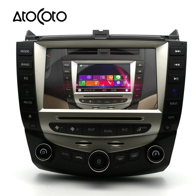 8 Inch Car Dvd Player Gps Navigation For Honda Accord 2003 2004 2005 2006 2007 Single Or Dual Zone Climate Control Radio